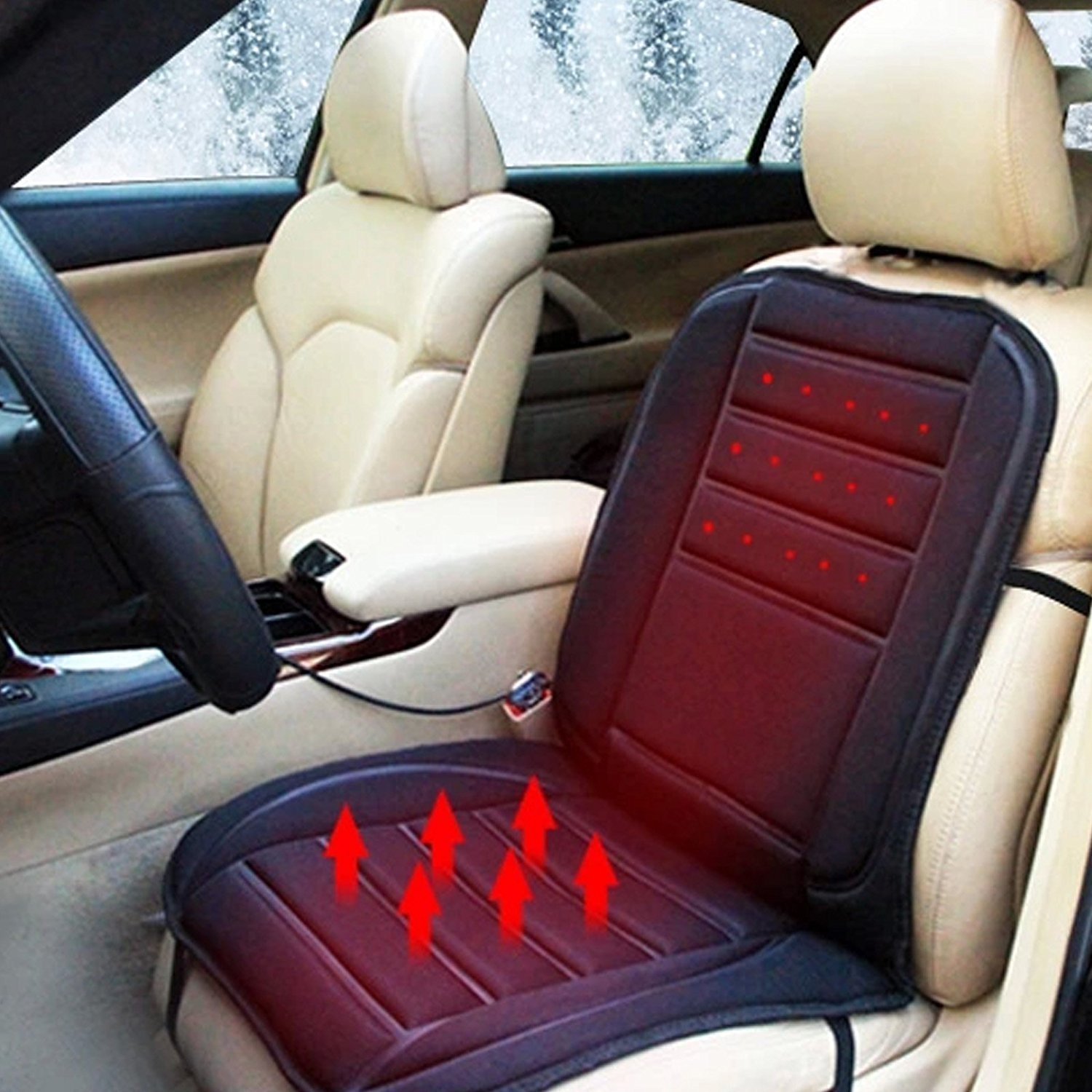 XtremeAuto® Thermo Heated Seat Cushion Cover Pad Selection Front And Rear (Heated Massage Seat Cover) XtremeAuto®