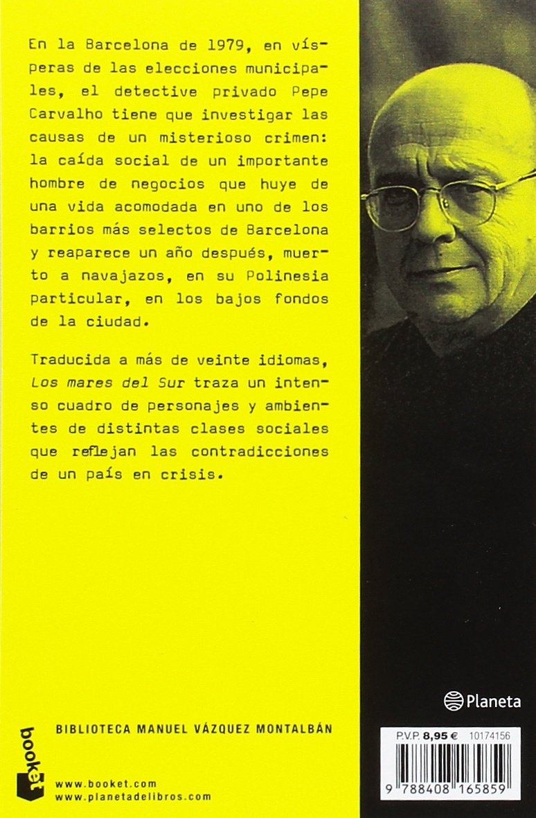 Los mares del Sur Biblioteca Manuel Vázquez Montalbán: Amazon.es ...
