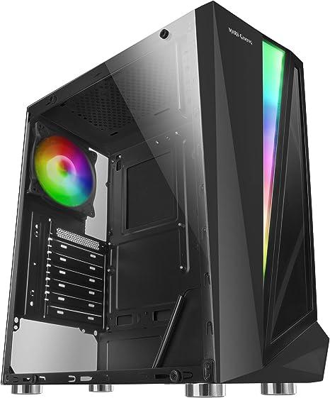 Mars Gaming MCL, caja PC, cristal templado, ventilador 12cm, LED 46 efectos: Amazon.es: Informática