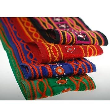 Neotrims Zierband, Indisches Muster, Baumwollstoff in Chenille-Optik ...