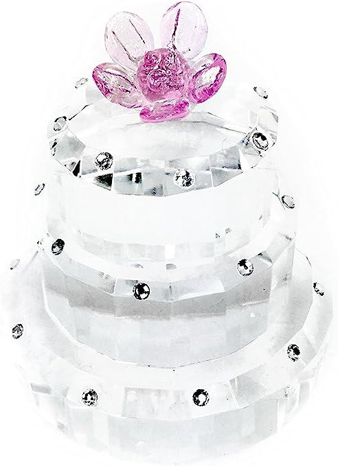 Astonishing Amazon Com Simon Design Crystal 3 Tier Birthday Cake With Pink Funny Birthday Cards Online Chimdamsfinfo