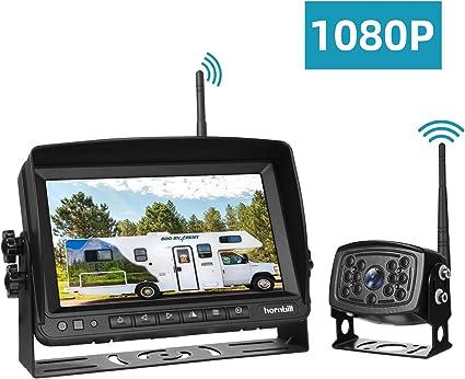 Digital Wireless 7/'/' Monitor Truck RV Bus Backup Rear View 170° Camera System