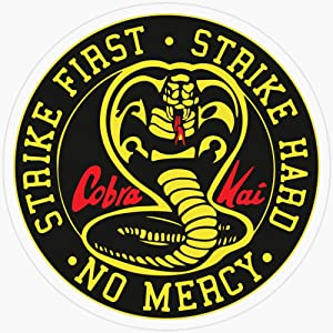 """Lplpol Vinyl Sticker - Cobra Kai - Strike First. Strike Hard. No Mercy. - The Rocky Horror Picture Show - Funny Decal Sticker Or Laptop, Phone, Cars, Water Bottles 5.5"""""""