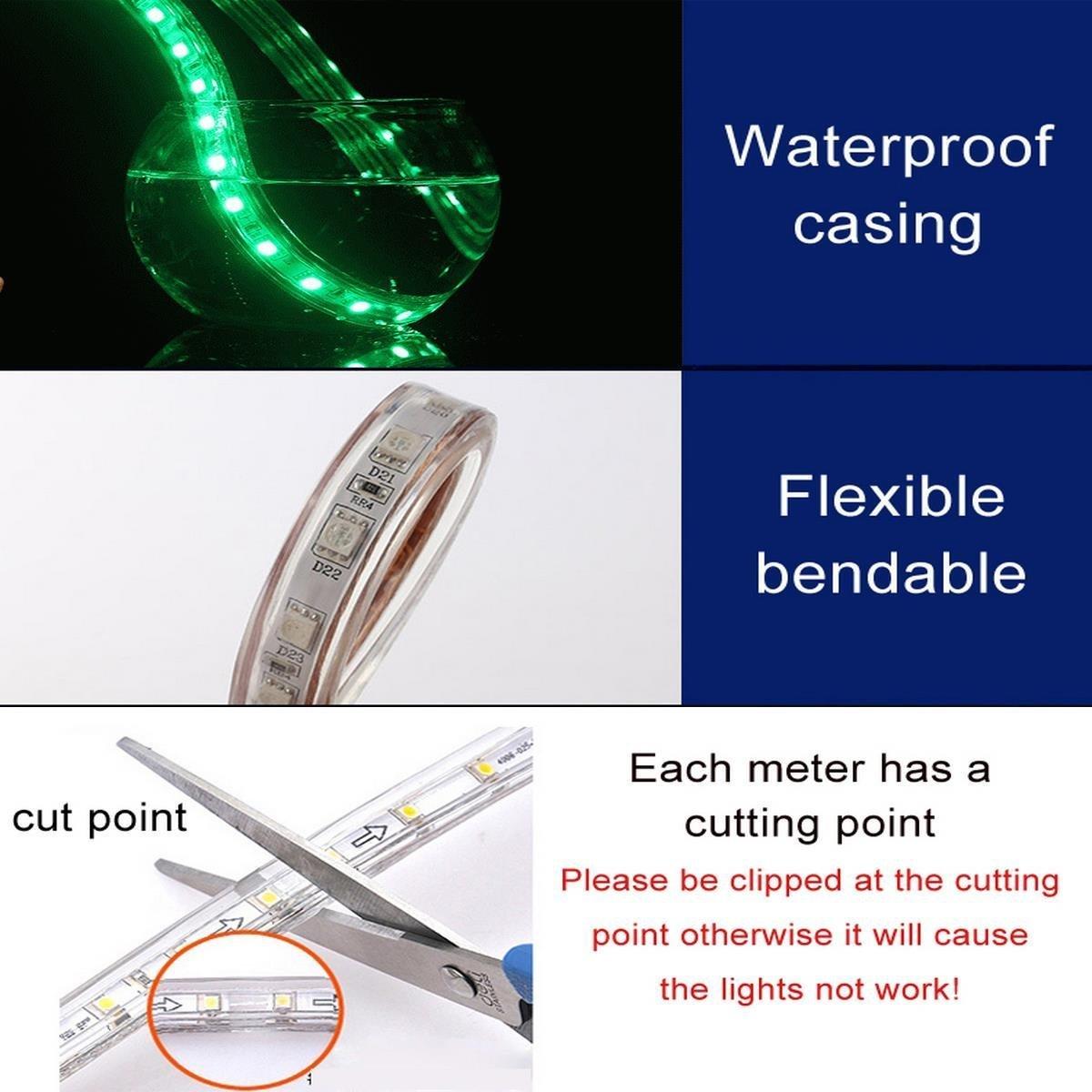 Superonlinemall Ac 110 120v Flexible Waterproof Led Strip Lights 5m Strips Rgb Wiring Diagram 164ft No Model
