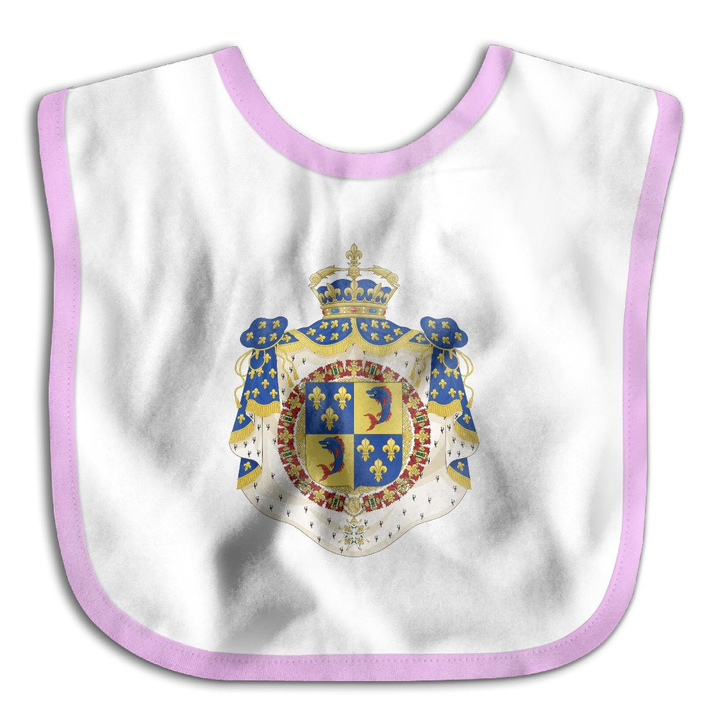 Coat Of Arms Dauphin Of France Soft Cotton Newborns Bid Pinafore Saliva Towels Pink by HHH Babybid (Image #1)