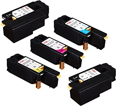 4 PCS E525W Multi-Color Toner Set for Dell E525w Color Multifunction Printer