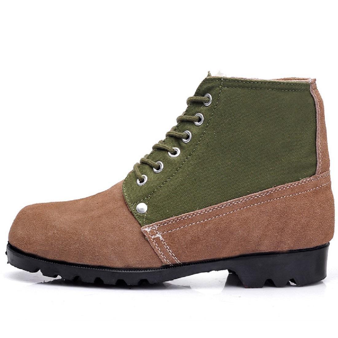 Herren Herbst Winter Warm halten Martin Stiefel Draussen Plus Kaschmir Schneestiefel Hohe Stiefel Schuhe erhöhen Rutschfest Gemütlich Baumwollschuhe EUR GRÖSSE 38-46
