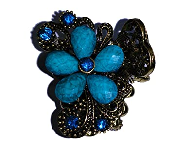 buy feathers collection designer antique brown metal and blue