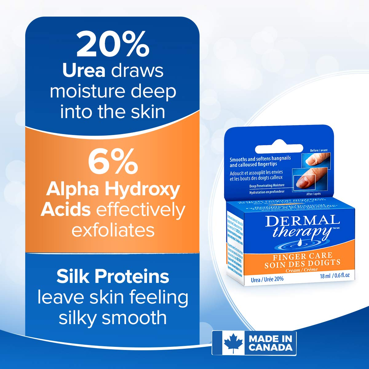 Dermal Therapy Finger Care Cream – Hydrating Treatment Repairs Skin to Heal Dry, Cracked Fingertips Resulting from Frequently Washed/Cleaned Hands   20% Urea and 6% Alpha Hydroxy Acids   0.6 fl. oz : Beauty