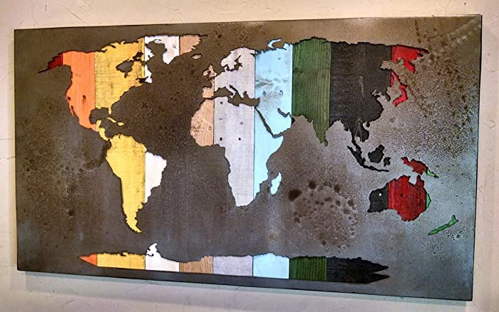 Amazon map of the world reverse cut mural map 2525 x 45 map of the world reverse cut mural map 2525quot x 45quot gumiabroncs Gallery