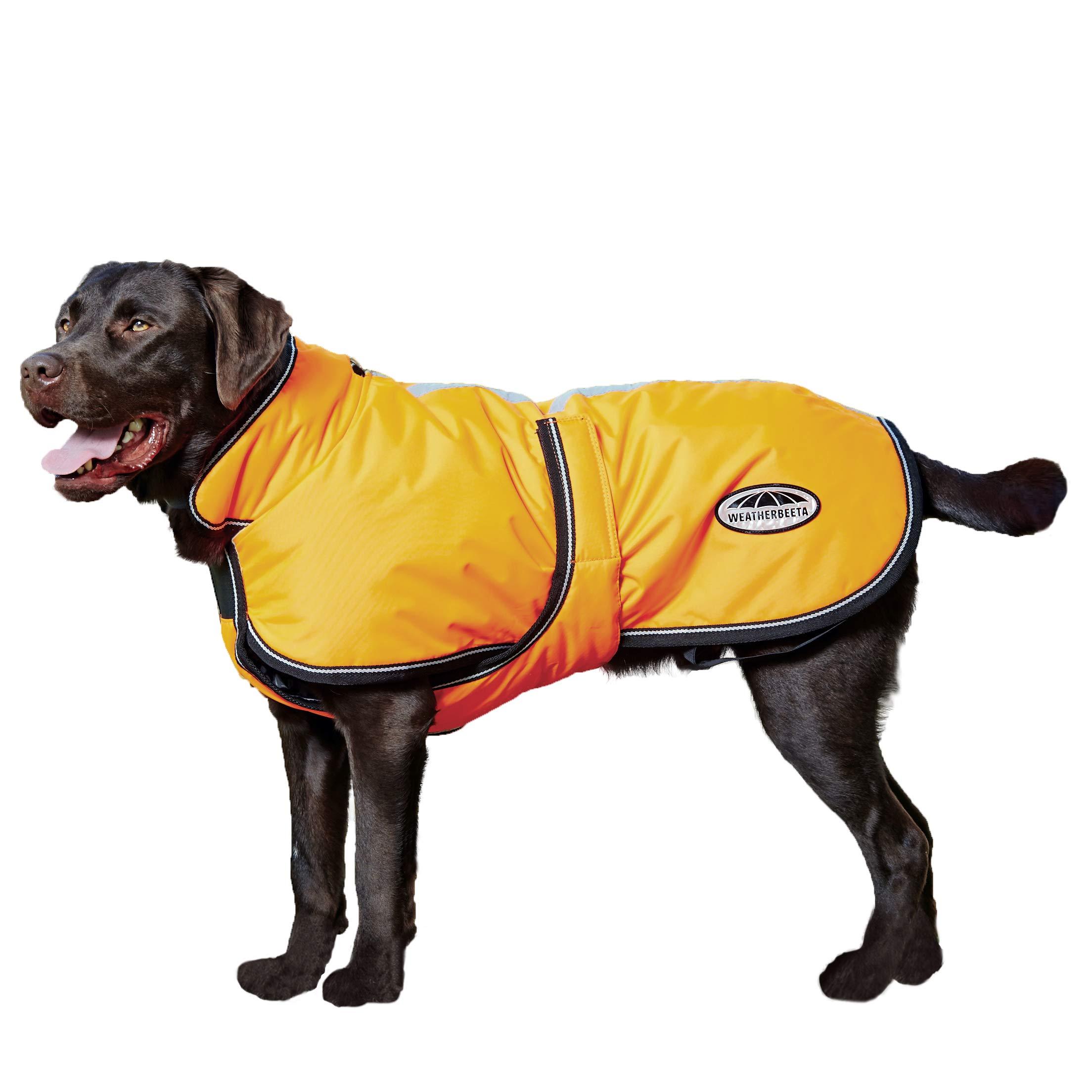 Weatherbeeta Reflective Parka 300D Deluxe Dog Coat Orange 14'' by Weatherbeeta