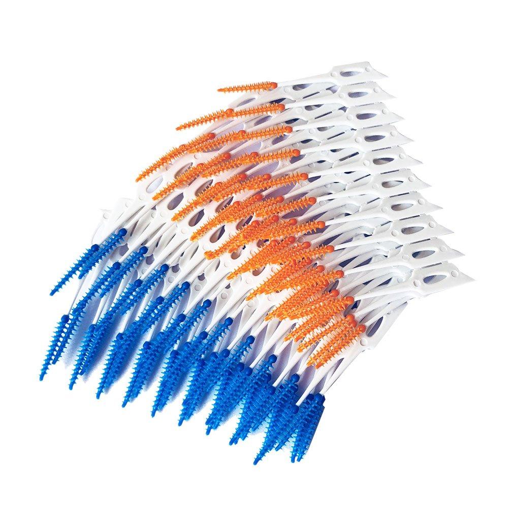 Anself 80 Unids / caja Hilo Dental Cepillo Interdental Dientes Stick Palillo de Dientes de Silicona Suave Elecciones Orales Cuidado de La Limpieza