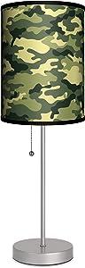 "Lamp-In-A-Box SPS-VAR-GRECA Various Green Camo Sport Lamp, 7"" x 7"" x 20"", Silver"