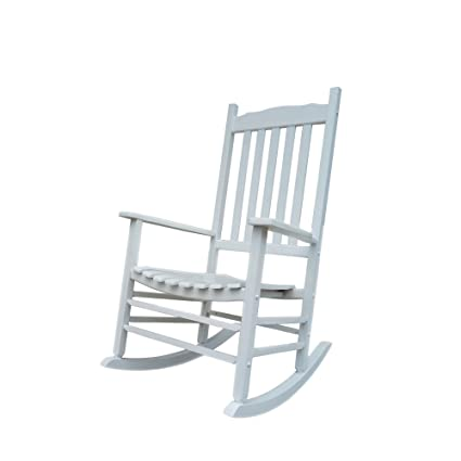 Outstanding Rocking Rocker A001Wt White Porch Rocker Rocking Chair Easy To Assemble Comfortable Size Outdoor Or Indoor Use Bralicious Painted Fabric Chair Ideas Braliciousco