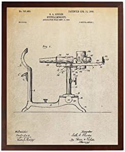 Turnip Designs Ophthalmoscope Patent Poster Optometry Gift Doctor Office Decor Optometry Art TDP418