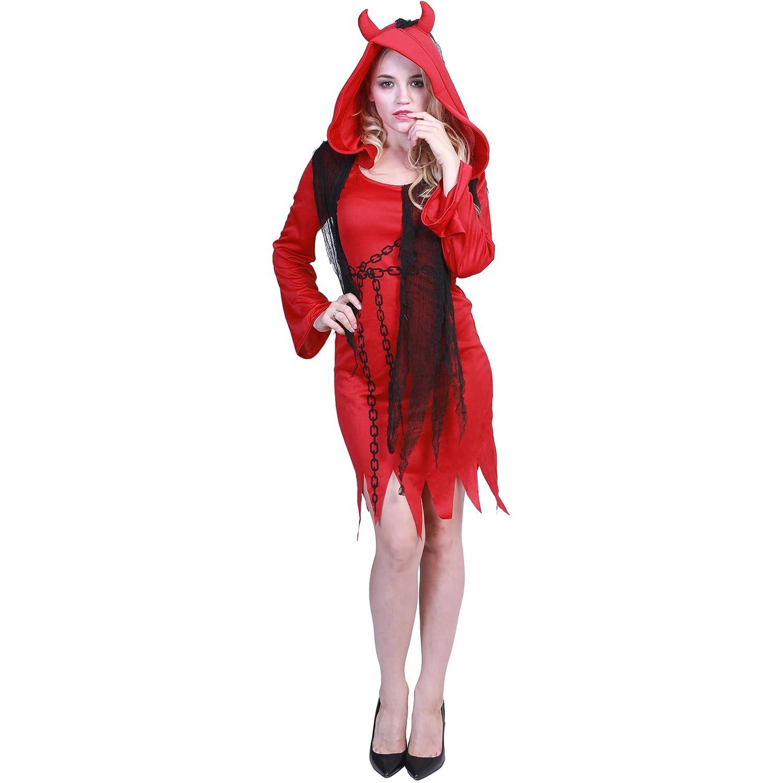 BERTHACC Disfraz Vampira Halloween Vampiresa Reina Cosplay Novia ...