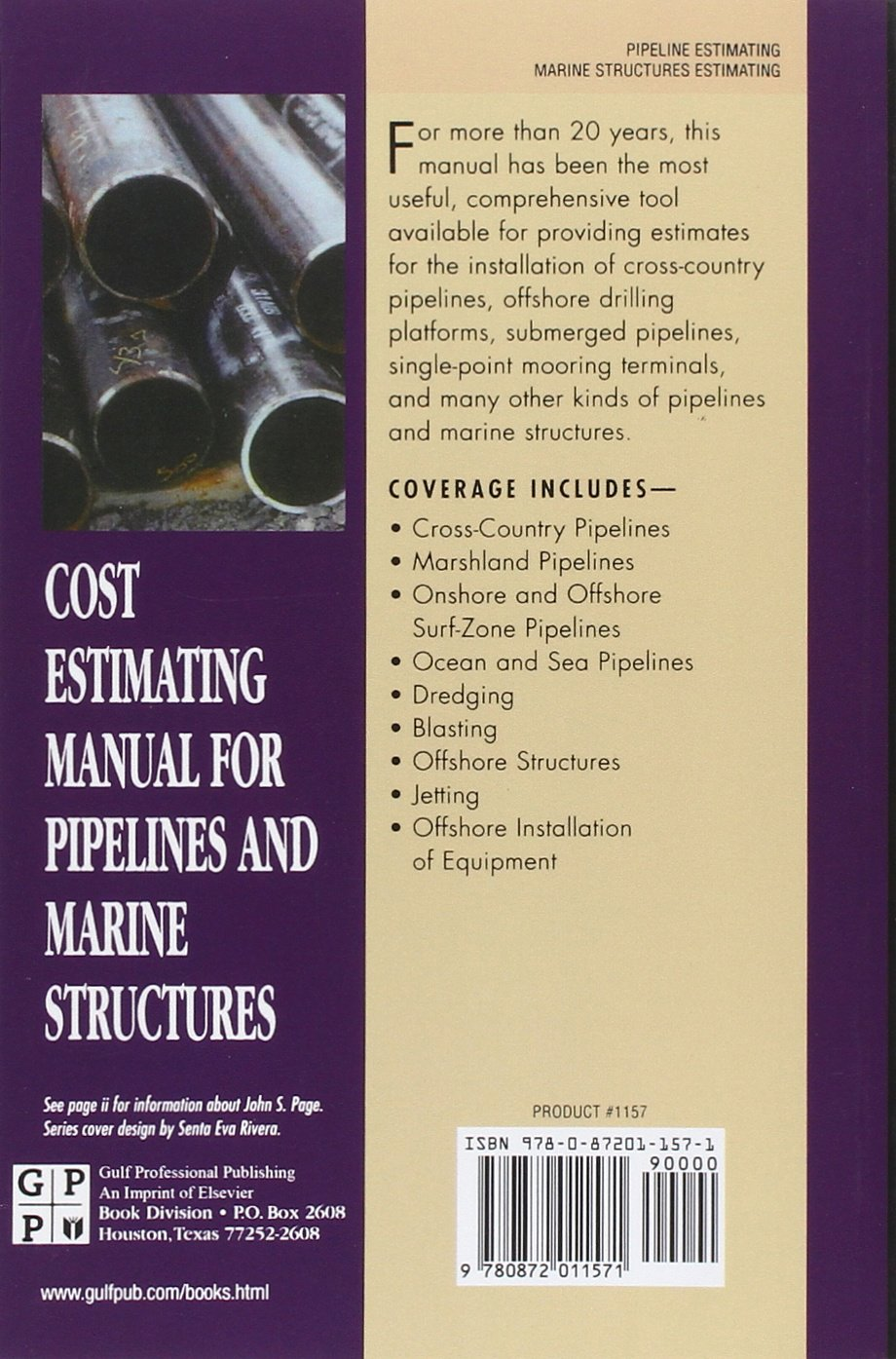 Cost Estimating Manual for Pipelines and Marine Structures (Estimator's Man-Hour Library) by Brand: Gulf Professional Publishing