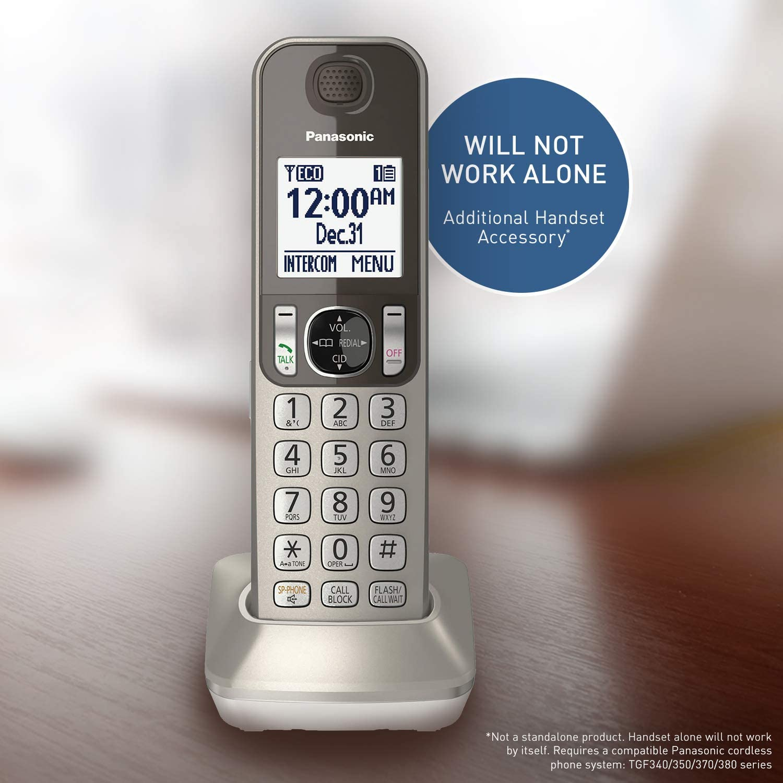 Panasonic Cordless Phone Handset Accessory Compatible with KX-TGF350N / KX-TGF352N & KX-TGF353N Series Cordless Phone Systems - KXTGFA30N (Champagne Gold)