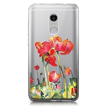 CASEiLIKE Funda Redmi Note 4, Carcasa Xiaomi Redmi Note 4, Acuarela Floral 2230, TPU Gel Silicone Protectora Cover