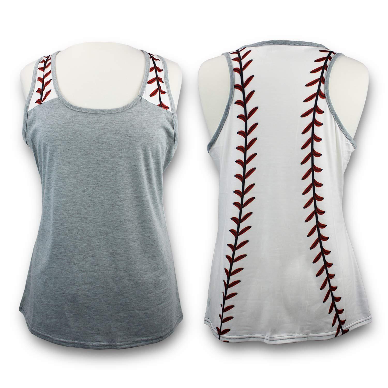 d8dd90d837ea2 Amazon.com  KnitPopShop Baseball Tank Top for Mom Fans T Shirt Apparel  Tshirt Gifts Team  Clothing