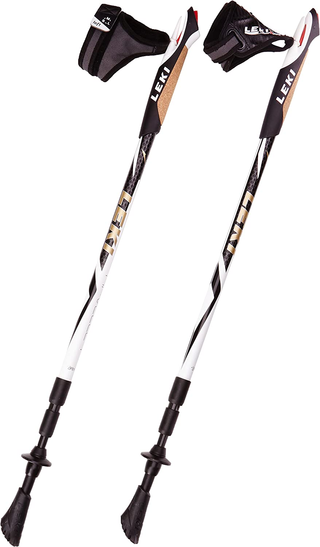Leki Traveller Carbon Nordic Walking Stick-Black 90-130 cm