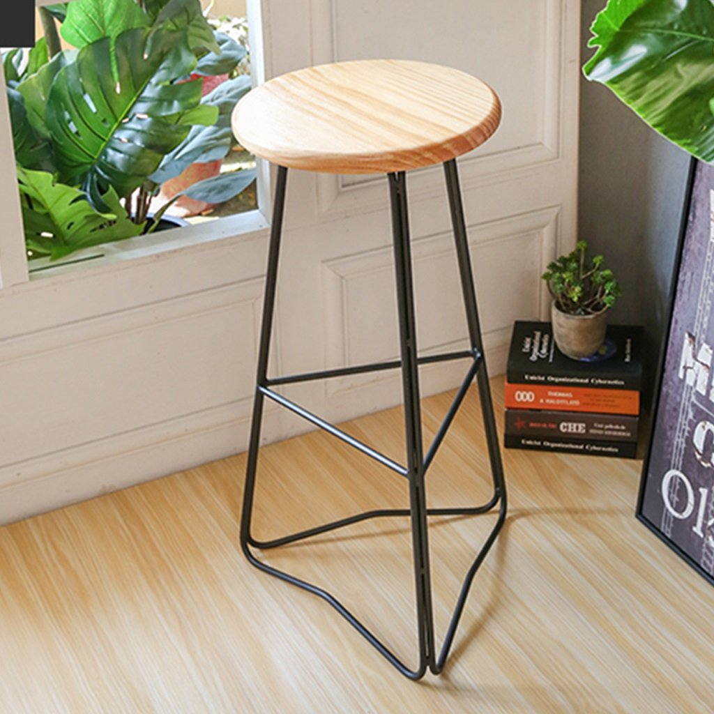 Miraculous Amazon Com Yjxjjd Solid Wood High Stools Simple Wrought Theyellowbook Wood Chair Design Ideas Theyellowbookinfo