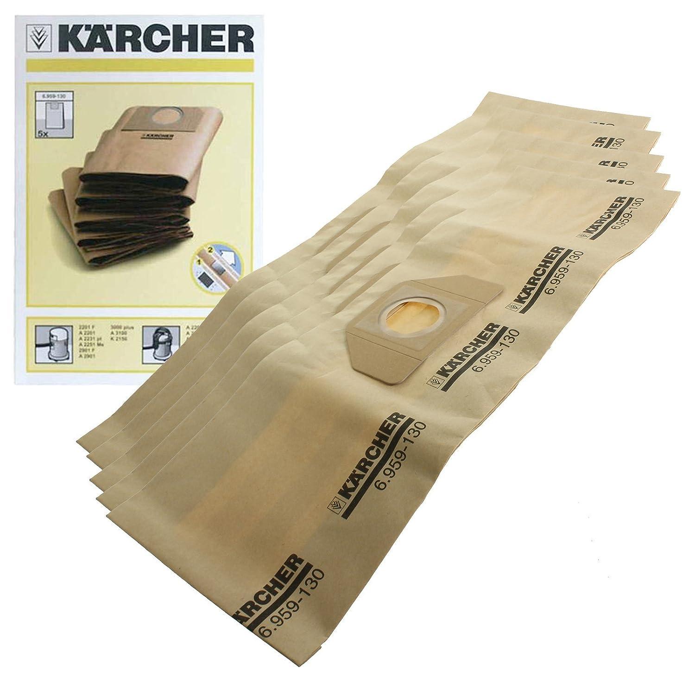 KARCHER A2004 A2054 A2024 Wet /& Dry Aspirapolvere Filtro /& 5 Sacchetti Polvere