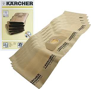 Karcher - Bolsas con filtro dual para aspiradora Karcher A2254 A2251 MV3 (5 unidades): Amazon.es: Salud y cuidado personal