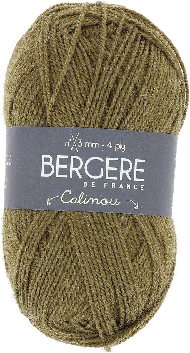 Vert Laine 13 x 8 x 8 cm 10057 Berg/ère de France CALINOU Pelote de Fil /à Tricoter