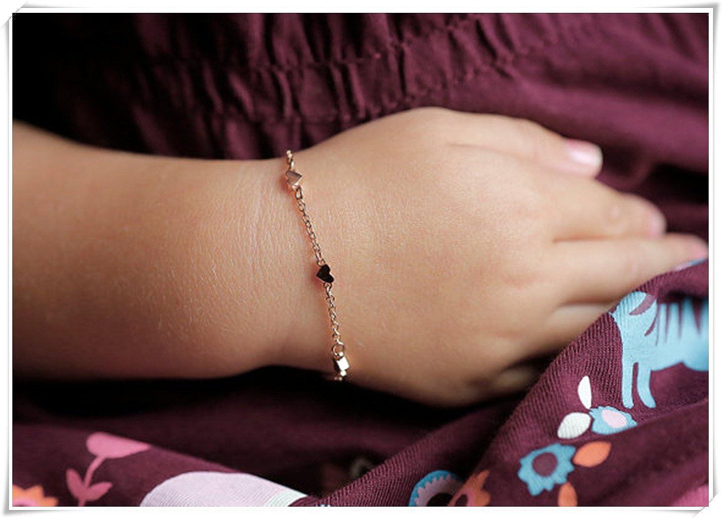 Tiny Hearts Bracelet, Infant Bracelet, Baptism Gift, baby Bracelet, Girl Bracelet, Meteor Shower NU28