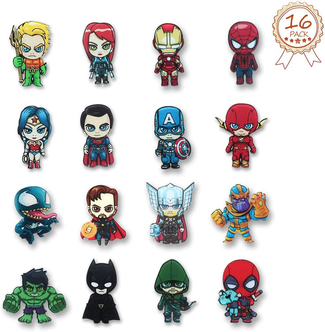 The Avengers Fridge Magnets - 16 PCS Superhero Refrigerator Magnets,Office Magnets,Calendar Magnet,Whiteboard Magnets,Perfect Decorative Magnet