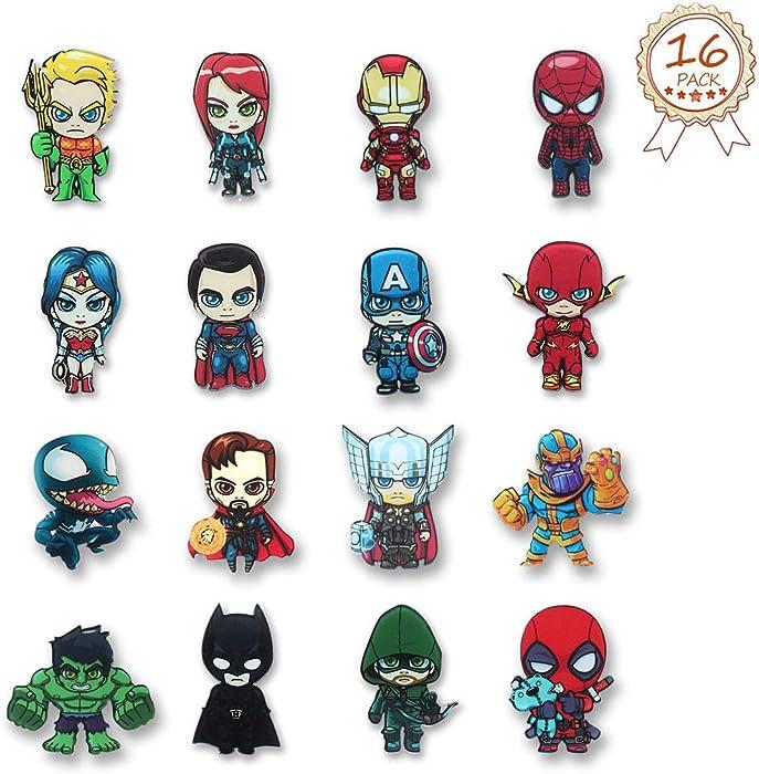 The Avengers Fridge Magnets - 16 PCS Superhero Refrigerator Magnets,Office Magnets,Calendar Magnet,Whiteboard Magnets,Perfect Decorative Magnet