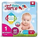 Baby Turco Bebek Bezi 1 Numara Newborn 60 Adet