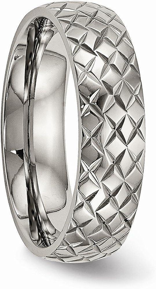Bridal Wedding Bands Decorative Bands Titanium Polished Textured Ring Size 10.5