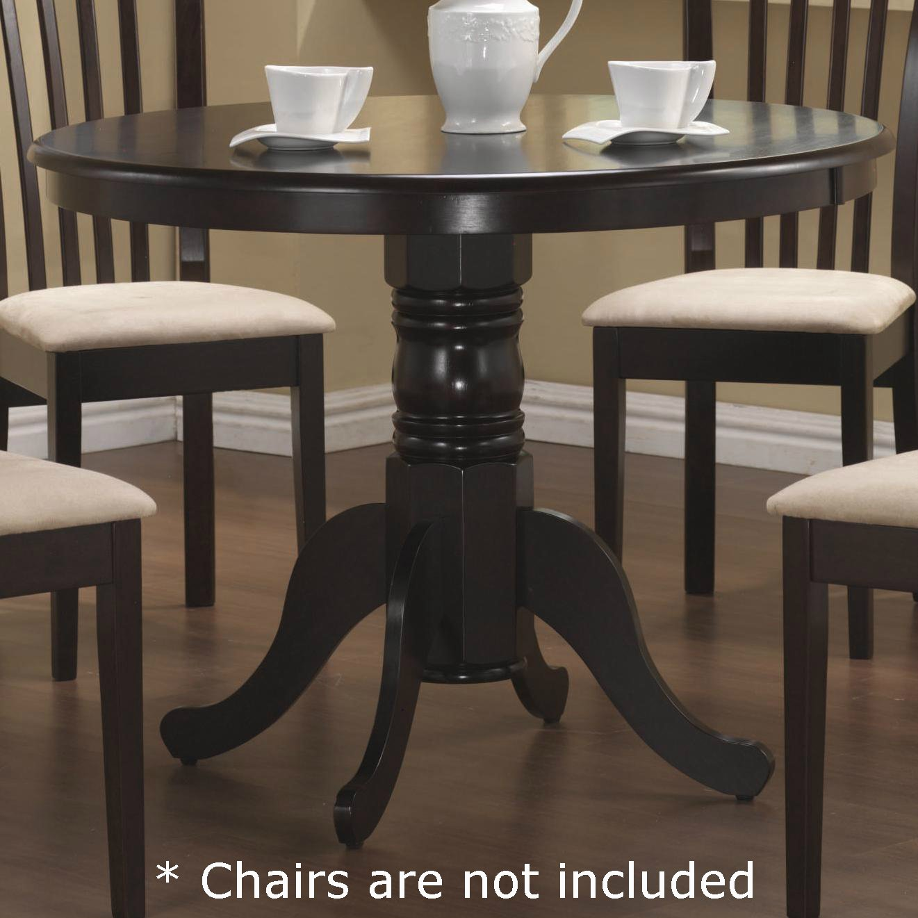 Coaster Pedestal Round Dining Table Cappuccino Finish by Coaster Home Furnishings (Image #1)