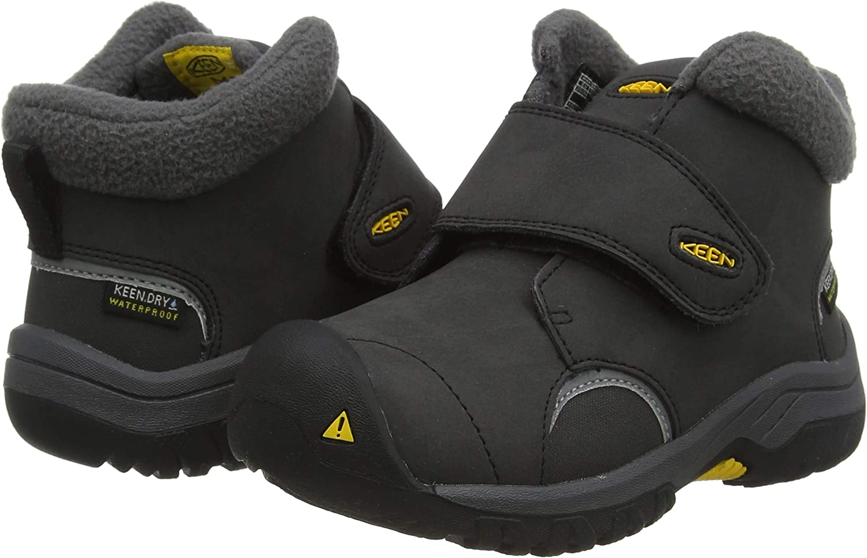 5 BK Black//Keen Yellow US KEEN Little Bigs Kootenay 3 Mid Waterproof Hiking Boot Big Kids