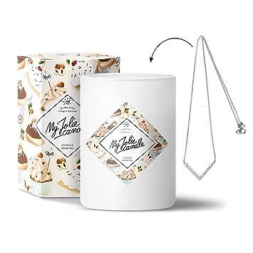 Bijou L'intérieur Parfumée Surprise Parfum My 100 Candle Cupcake CadeauCollier Noisettes • Bougie Jolie À Avec Cire Naturelle OPXkiZuT