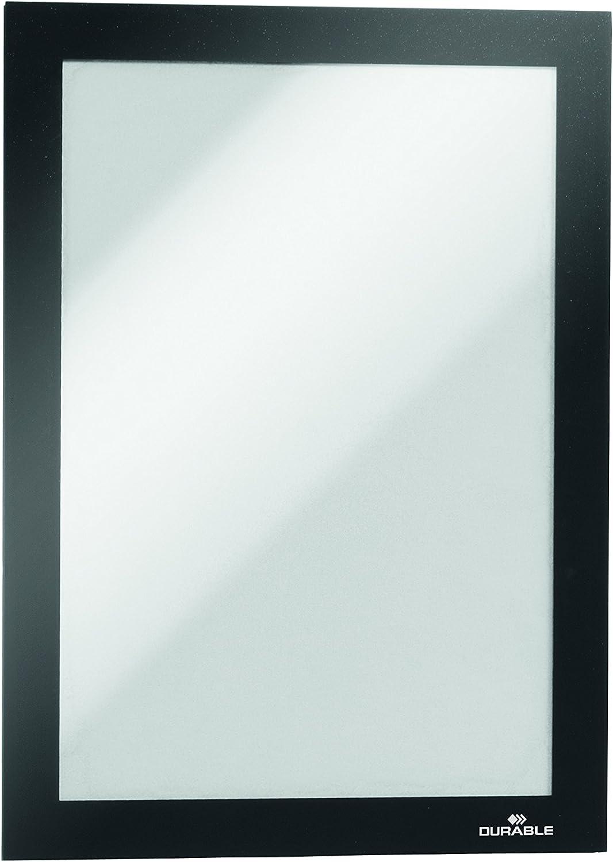 Nero Formato A5 Duraframe Cornice Espositiva Adesiva Confezione da 1 Pezzo per Superfici Lisce e Solide Durable 489801