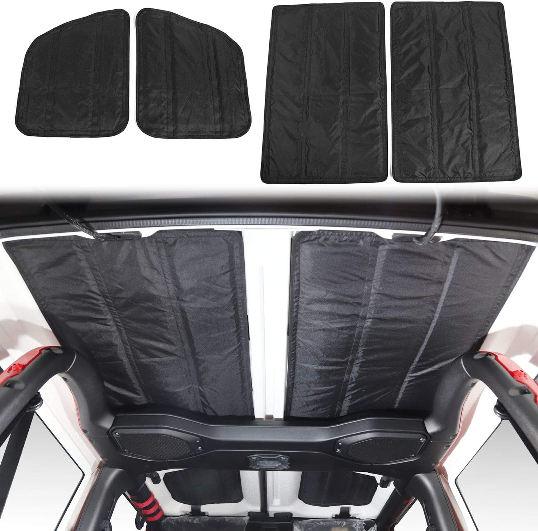 JeCar Hardtop Headliner Roof Insulation Kit Interior Accessories for 2018 2019 2020 Jeep Wrangler 2-Door JL /& 2020 Jeep Gladiator JT