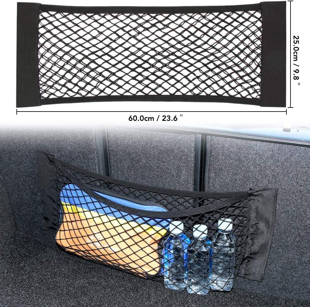 VFUM Scatola per Auto Sacco Portaoggetti per Auto Bag Mesh Net Bag per BMW E90 F30 F10 X5 E53 Audi A3 A6 C5 C6 8P Opel Insignia Alfa Romeo 159 Giulietta