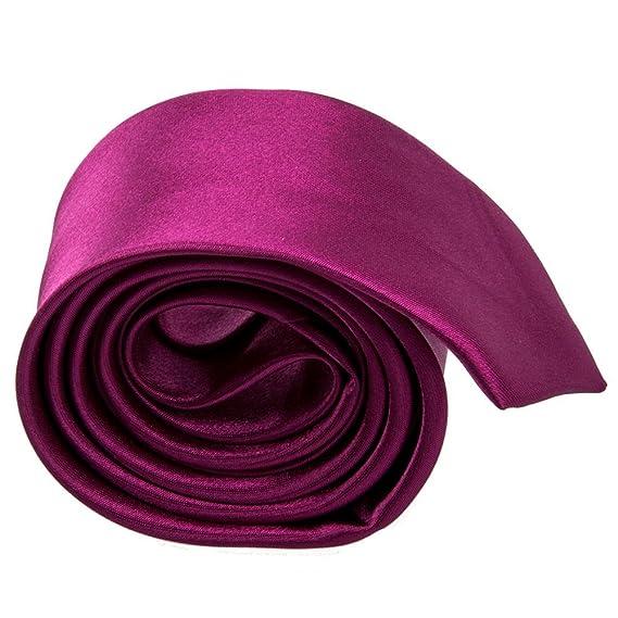 SODIAL(R) corbata informal unisex delgada - Fucsia solido: Amazon ...