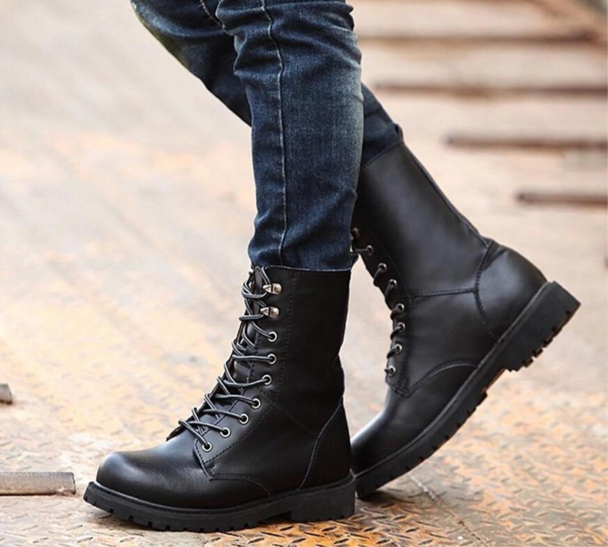 Neue Leder Herrenschuhe Outdoor Freizeit Warm Fashion Fashion Fashion High-Help Stiefel Schwarz   Braun  42 42e787