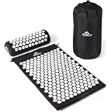 Black Mountain Black Mountain Products Acupressure Mat with Pillow and Carrying Bag – Acupuncture Mat for Trigger Point Massage Therapy Acupressure Mat Black, Black