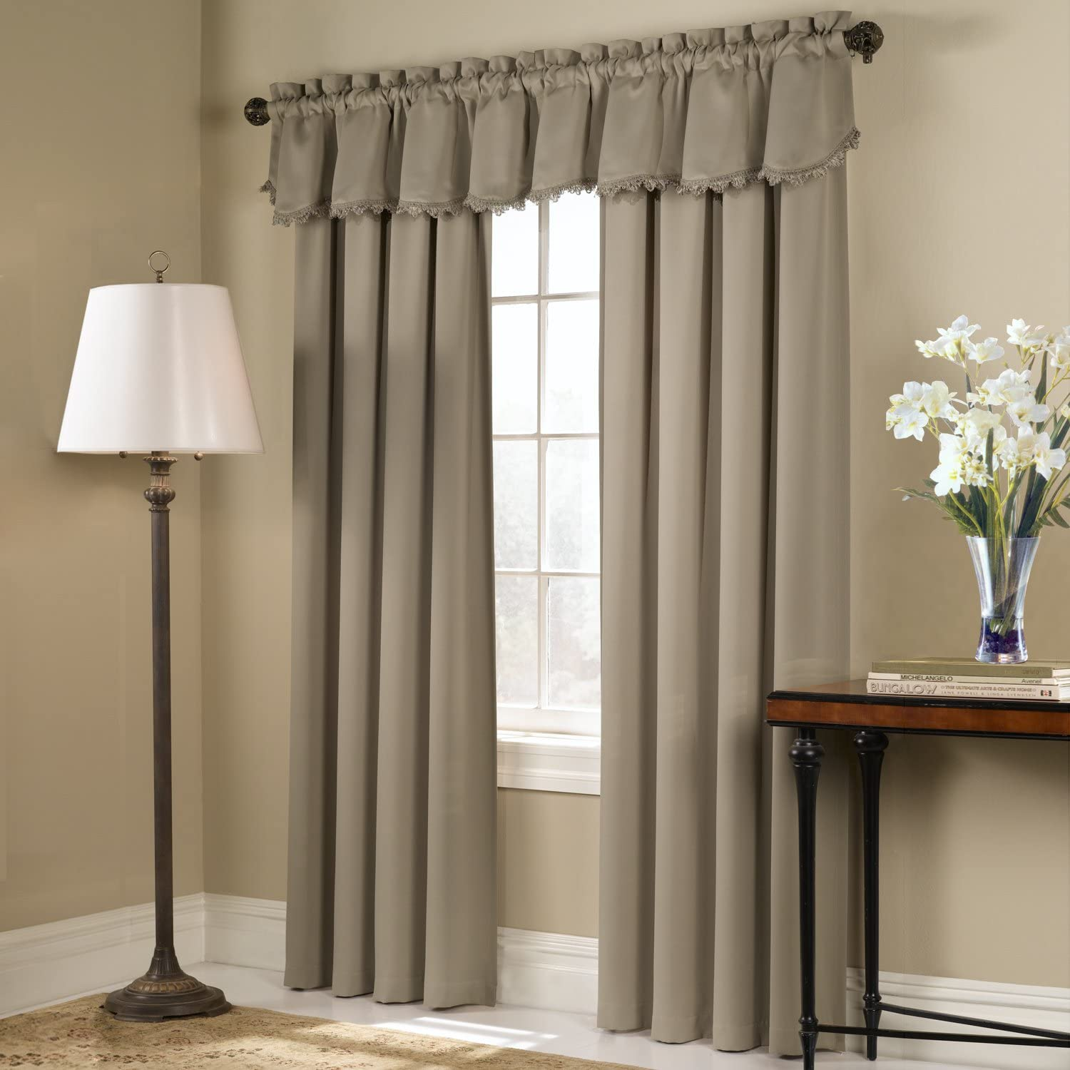 54 by 45-Inch United Curtain Blackstone Blackout Window Curtain Panel Blue