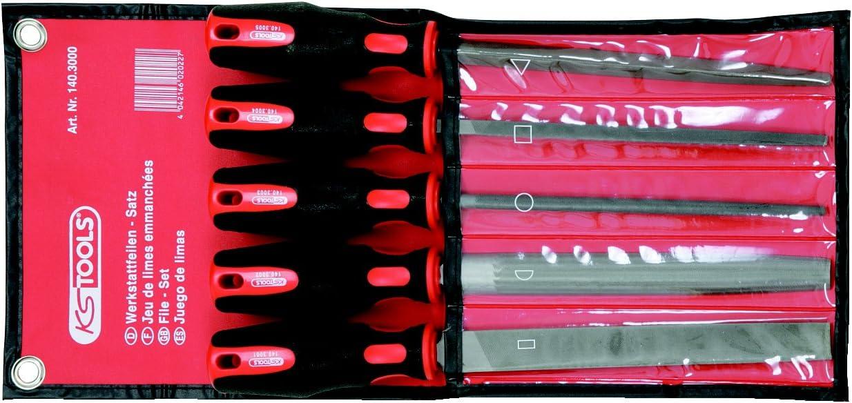 pochette de rangement avec fermeture /éclair 12 limes aiguilles triangulaires Lot de 16 limes en m/étal avec limes plates semi-rondes poign/ée souple avec brosse /à nettoyer