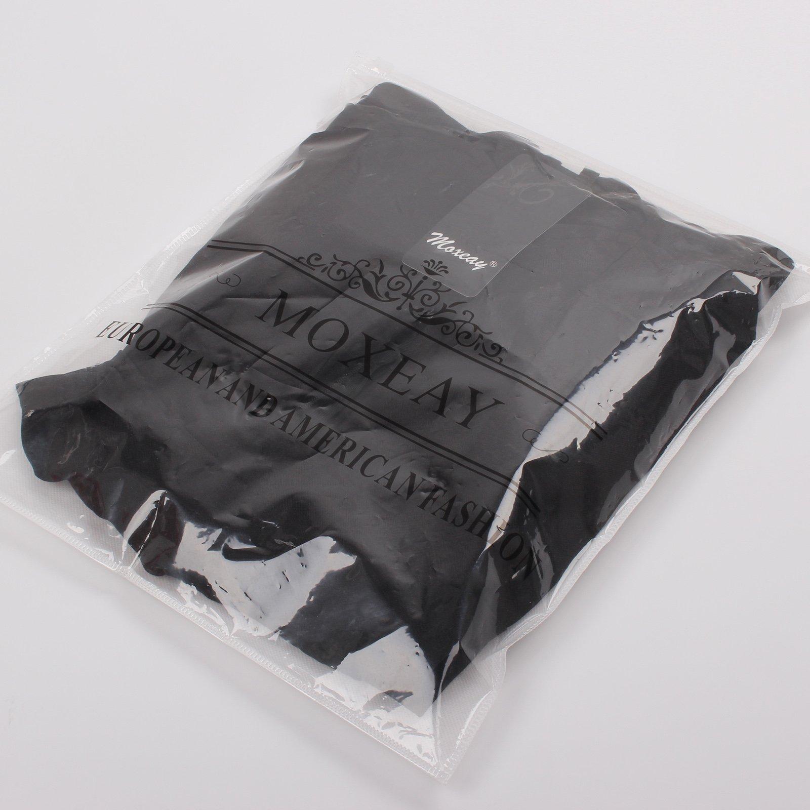 Moxeay Women Sexy Sleeveless Spaghetti Strap Mini Club Dress (S, Black)