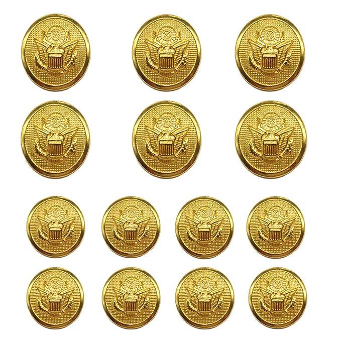 1 opinioni per YaHoGa 14 Pezzi Dorati Bottoni Metallo