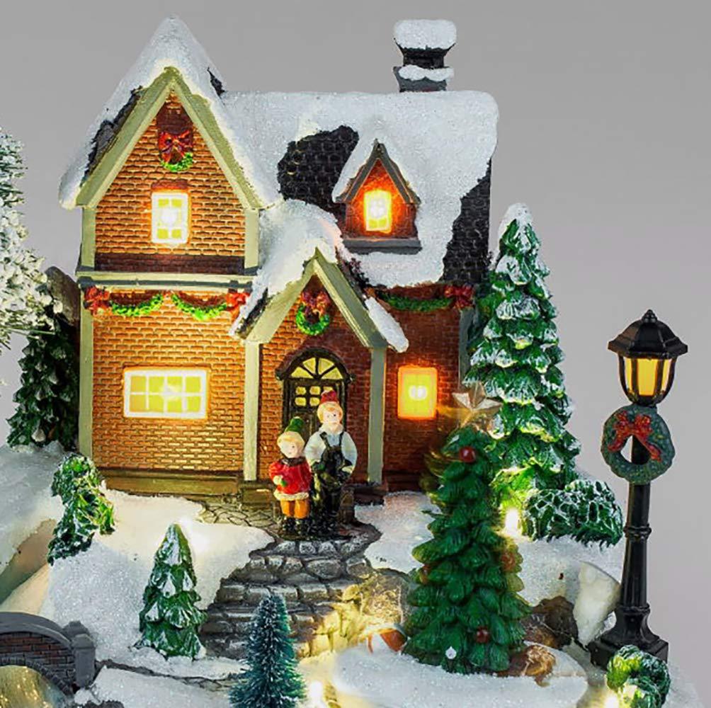 Formano Spieluhr Beleuchtet Mit Led Winterlandschaft Weihnachtsdeko