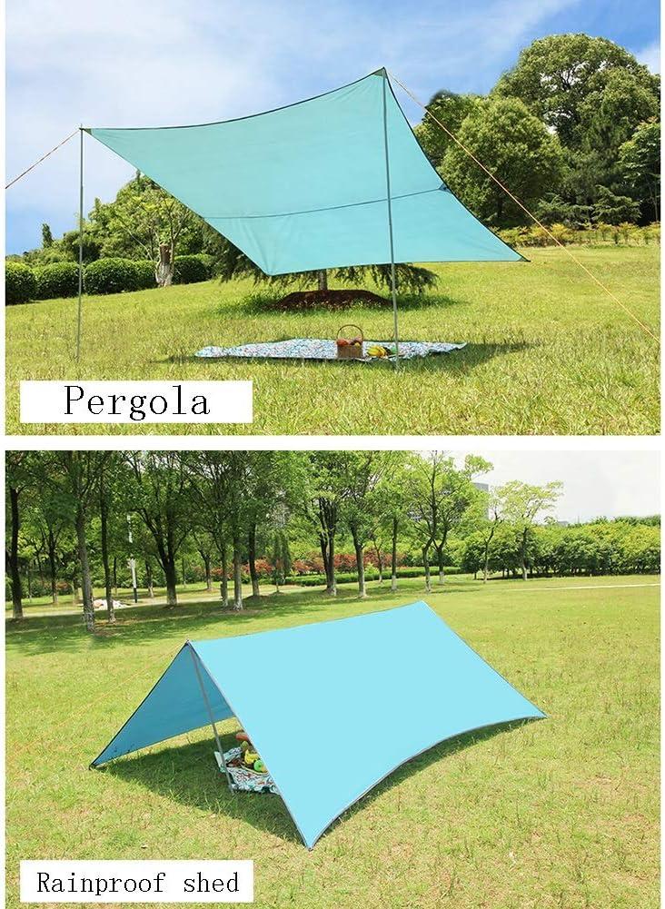 CAIJUN Toldo Impermeable Refugio Playa Lona Carpas De Camping Pérgola Plegable Al Aire Libre Impermeable Protector Solar Anti-UV Portátil Ocio, 5 Colores (Color : Khaki, Size : 3x3m): Amazon.es: Hogar