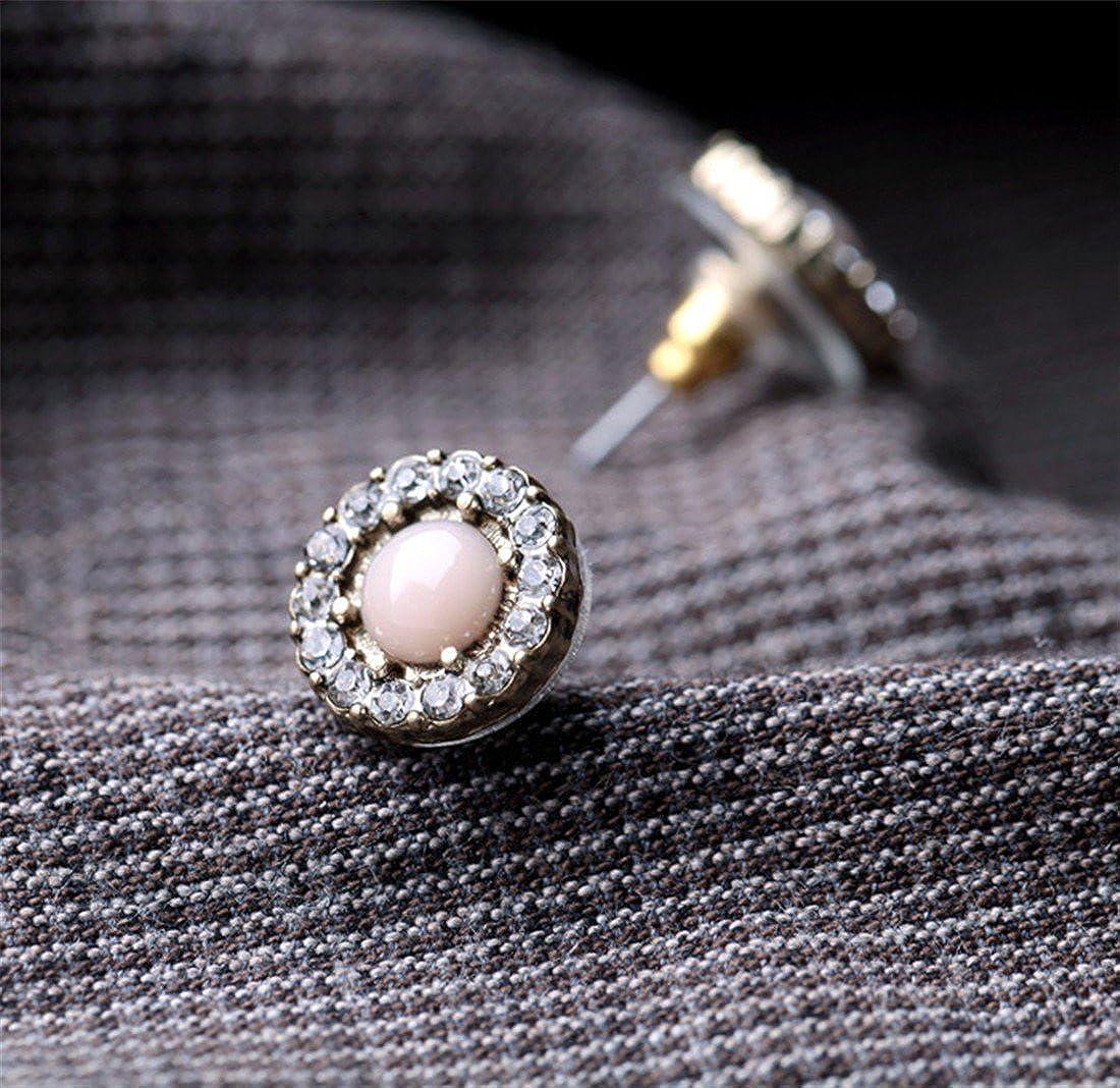 Europe retro female studs. round flowers crystal America ball earrings|clip on earrings|ear cuffs|dangle earrings|earring jackets|hoop earrings|stud earrings|Fashion